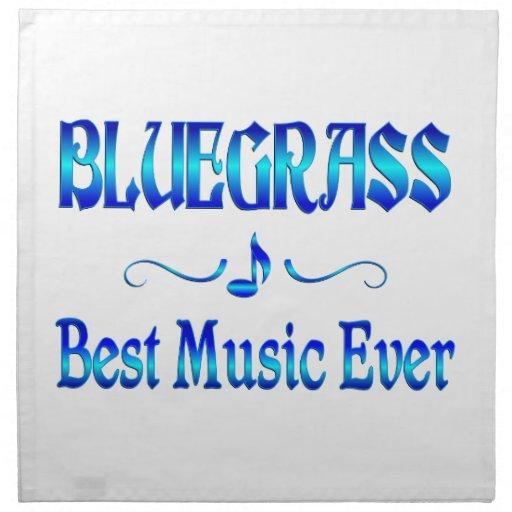 La mejor música del Bluegrass Servilletas