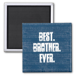 La mejor música siempre azul de BROTHER observa el Imán Cuadrado