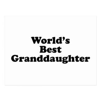 La mejor nieta del mundo tarjeta postal