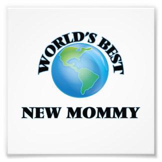 La mejor nueva mamá del mundo arte fotográfico