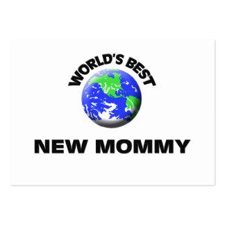La mejor nueva mamá del mundo plantilla de tarjeta de negocio