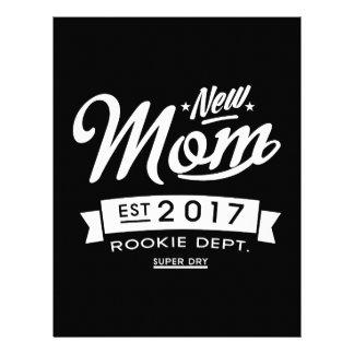La mejor nueva oscuridad de la mamá 2017 plantilla de membrete