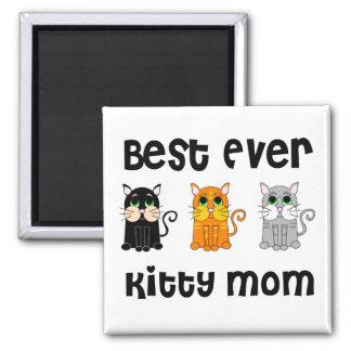 La mejor nunca mamá del gatito imán cuadrado