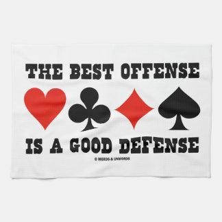 La mejor ofensa es una buena defensa (los juegos toallas de cocina