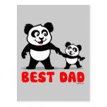La mejor panda del papá tarjeta postal
