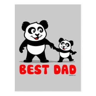 La mejor panda del papá tarjetas postales