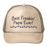 La mejor papá de Freakin nunca Gorros Bordados