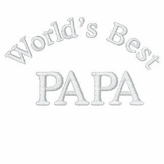 La mejor papá del mundo camiseta polo