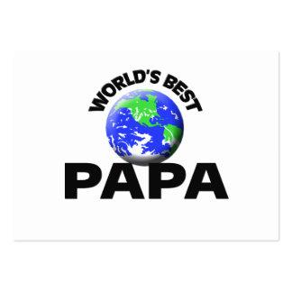 La mejor papá del mundo tarjeta de visita