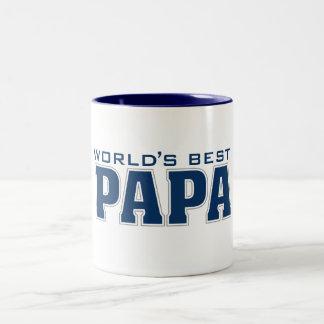 La mejor papá del mundo taza de dos tonos