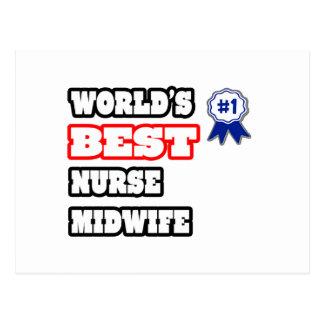 La mejor partera de la enfermera del mundo postales