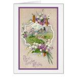 La mejor Pascua desea el vintage del Victorian Felicitacion