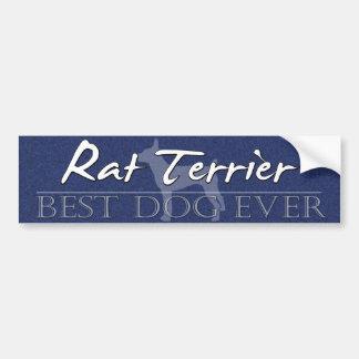 La mejor pegatina para el parachoques de Terrier d Pegatina De Parachoque