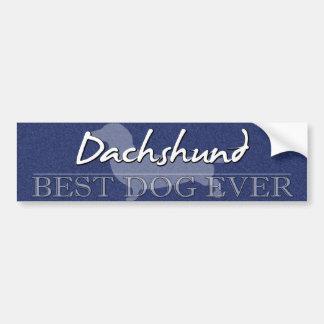 La mejor pegatina para el parachoques del Dachshun Pegatina Para Auto