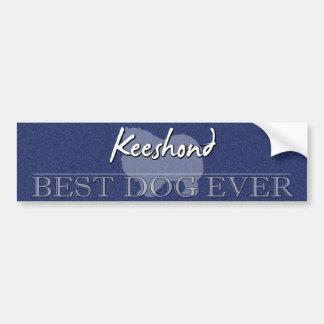 La mejor pegatina para el parachoques del Keeshond Etiqueta De Parachoque