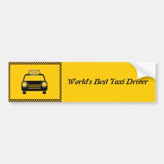 La mejor pegatina para el parachoques del taxista  pegatina para auto