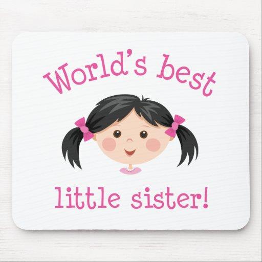La mejor pequeña hermana de los mundos - chica asi alfombrilla de ratón