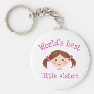 La mejor pequeña hermana de los mundos - pelo marr llavero personalizado