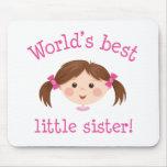 La mejor pequeña hermana de los mundos - pelo marr alfombrillas de ratones