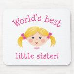 La mejor pequeña hermana de los mundos - pelo rubi tapete de ratones