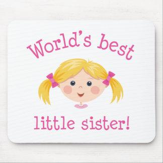 La mejor pequeña hermana de los mundos - pelo rubi mousepad