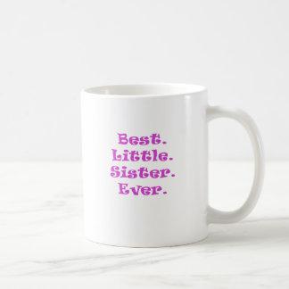 La mejor pequeña hermana nunca taza