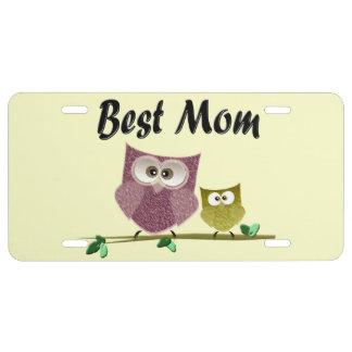 La mejor placa de la mamá placa de matrícula