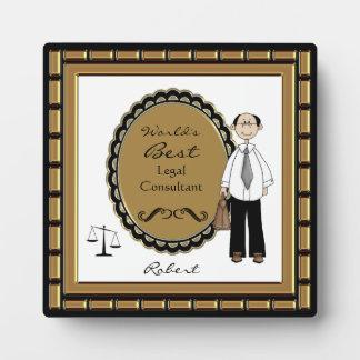 La mejor placa del varón del abogado del mundo