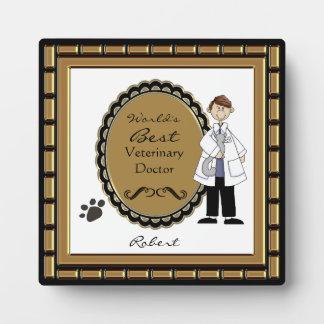 La mejor placa masculina veterinaria del mundo