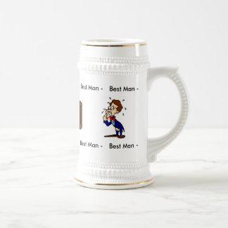 La mejor plantilla de la taza del hombre