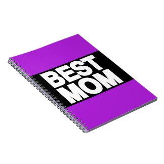 La mejor púrpura de LG de la mamá Libros De Apuntes Con Espiral