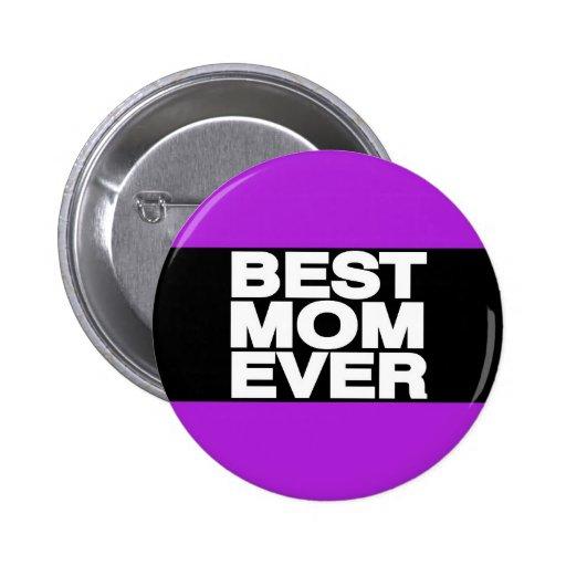 La mejor púrpura de LG de la mamá nunca Pin Redondo 5 Cm