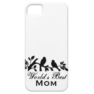 La mejor rama Silhouet del pájaro del día de madre Funda Para iPhone 5 Barely There