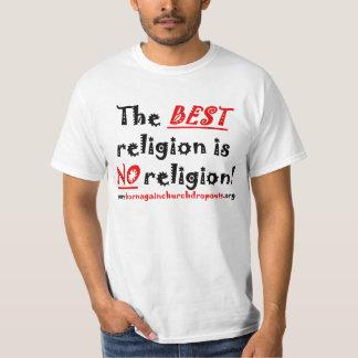 La MEJOR religión de rojo/del negro en la camiseta Poleras