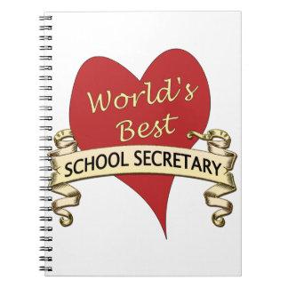 La mejor secretaria de la escuela del mundo libro de apuntes