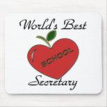 La mejor secretaria de la escuela del mundo tapetes de raton