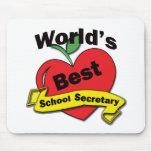 La mejor secretaria de la escuela del mundo tapete de ratones