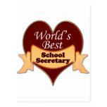 La mejor secretaria de la escuela del mundo postales