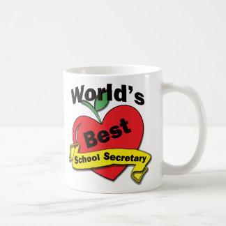 La mejor secretaria de la escuela del mundo taza de café