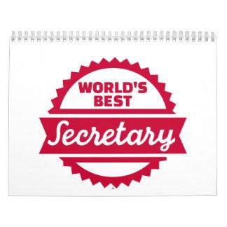 La mejor secretaria del mundo calendario de pared