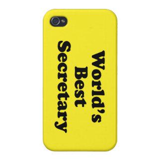 La mejor secretaria del mundo iPhone 4 protectores