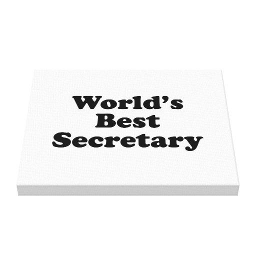 La mejor secretaria del mundo impresion en lona
