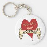 La mejor secretaria del mundo llavero personalizado