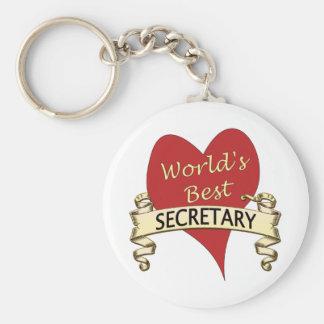 La mejor secretaria del mundo llavero redondo tipo pin