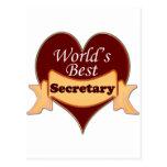 La mejor secretaria del mundo tarjetas postales