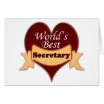 La mejor secretaria del mundo tarjetón