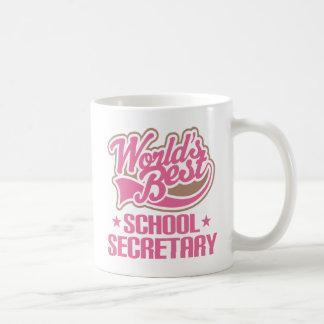 La mejor secretaria Office Mug Gift de la escuela Taza De Café