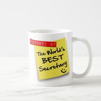 La mejor secretaria Post del mundo Taza De Café