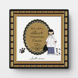 La mejor señora veterinaria Plaque del mundo Placa Para Mostrar