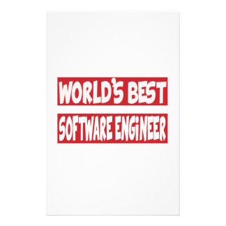 La mejor Software Engineer del mundo Papelería Personalizada